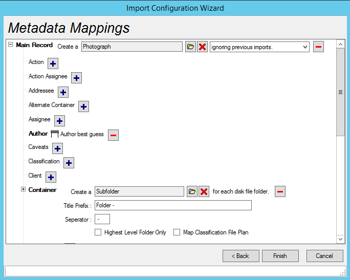 Comprehensive Metadata Mapping